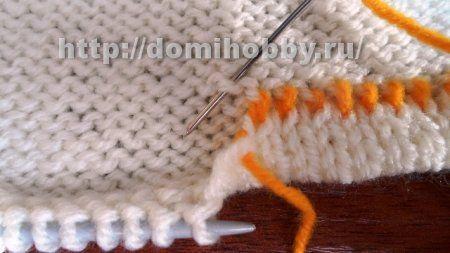 Как подшить вязание