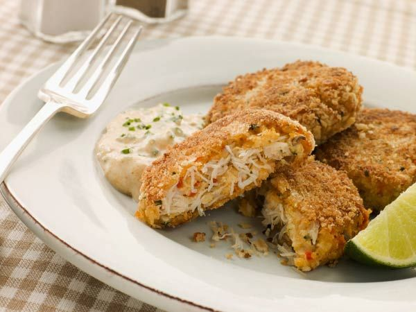 Crab Cakes With Spicy Mayonnaise- One of my favorite crab cake recipes!