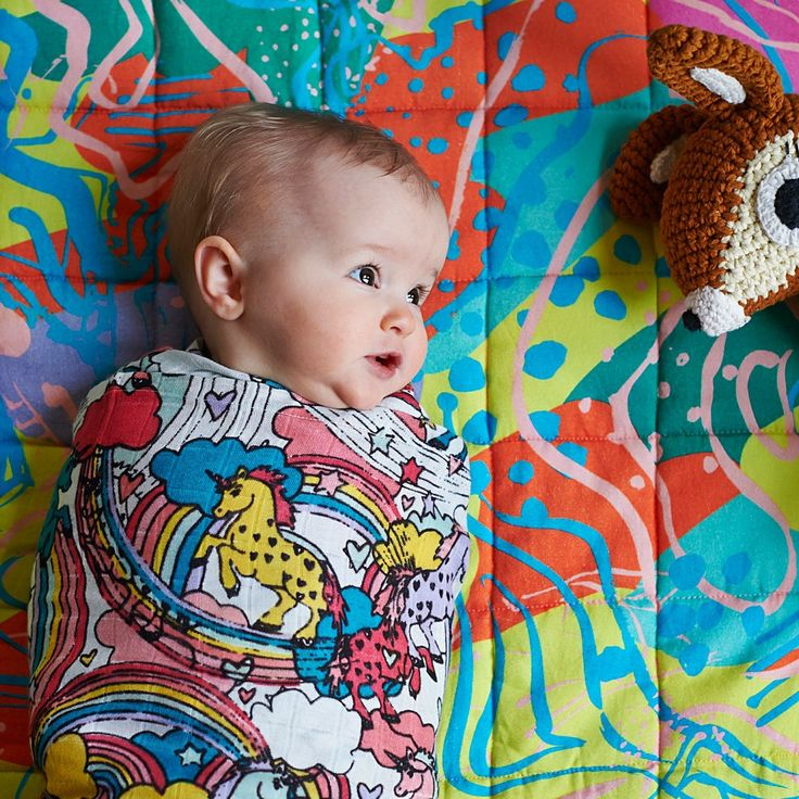 Image of KIP & CO Starbright and Swish  pack of 2 swaddles