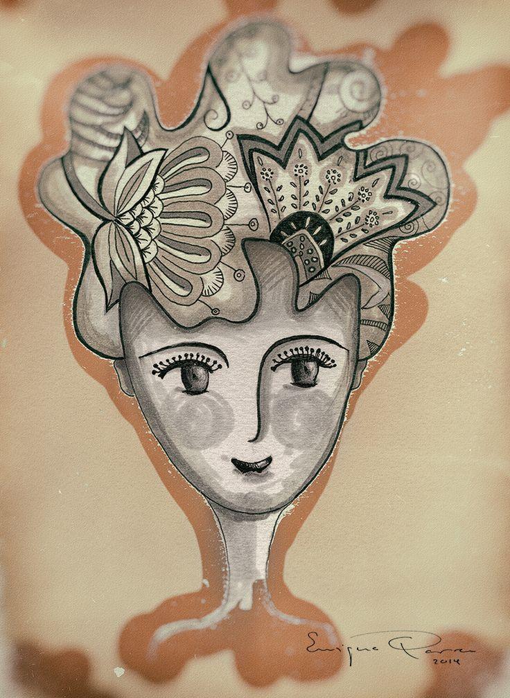 Enrique Parra Doodle Mujer