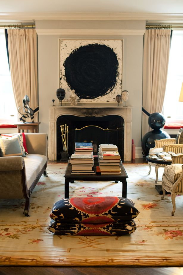 Peek inside Kate Spade's home. It is full of interior design ideas and inspiration for the transitional home.