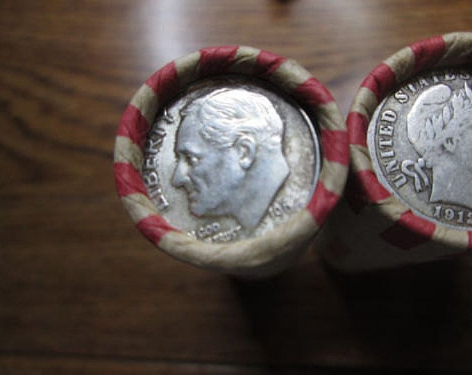 Unsearched Wheat penny rolls with a Indian Head penny on the end