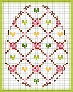 Вышивка крестиком, схемы пасхальных яичек