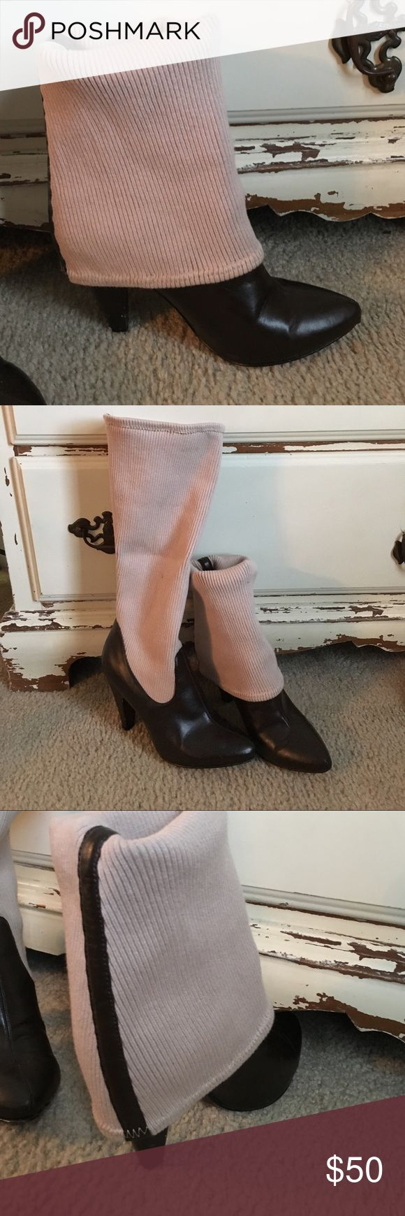 Jessica Simpson boots These are an amazing pair of boots!  You can wear them slouchy, short or stretched out like leggings.  They have a knick on the heel, but definitely not noticeable when wearing them. Jessica Simpson Shoes Heeled Boots