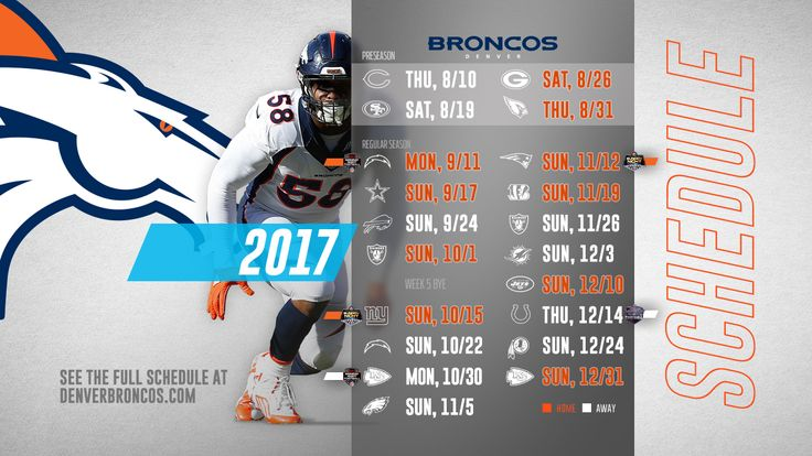 2017 NFL Preseason Denver Broncos Wallpaper Schedules - Live Wallpaper HD