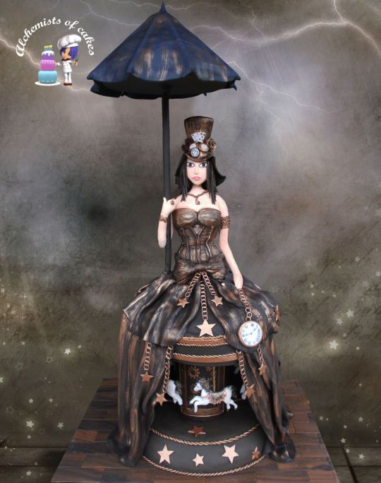 Steampunk Cake Images