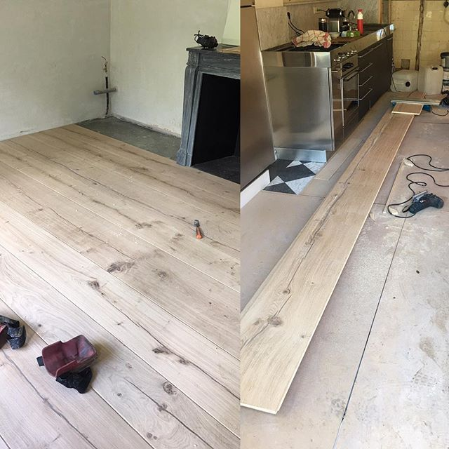 Roomlength, wide  Rustic Oak 6.2 mtr long in an Amsterdam canal house…