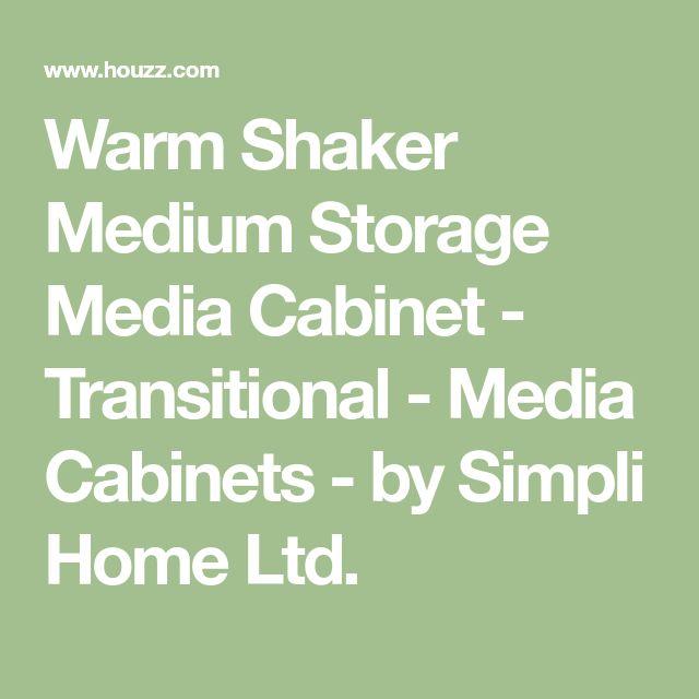Warm Shaker Medium Storage Media Cabinet - Transitional - Media Cabinets - by Simpli Home Ltd.