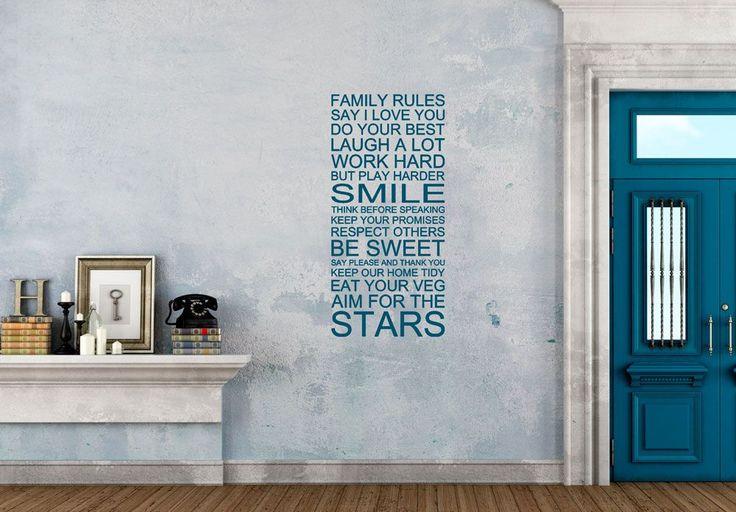 Rules - Wall sticker