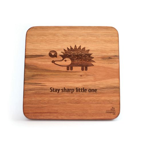 """Stay sharp little one."" Such a sweet affirmation for a kids room or nursery. This would look great on it's own or as a series with our other animal wall art designs."