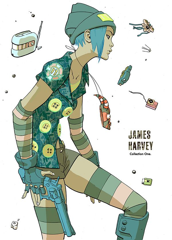 James Harvey ✤ || CHARACTER DESIGN REFERENCES | Find more at…