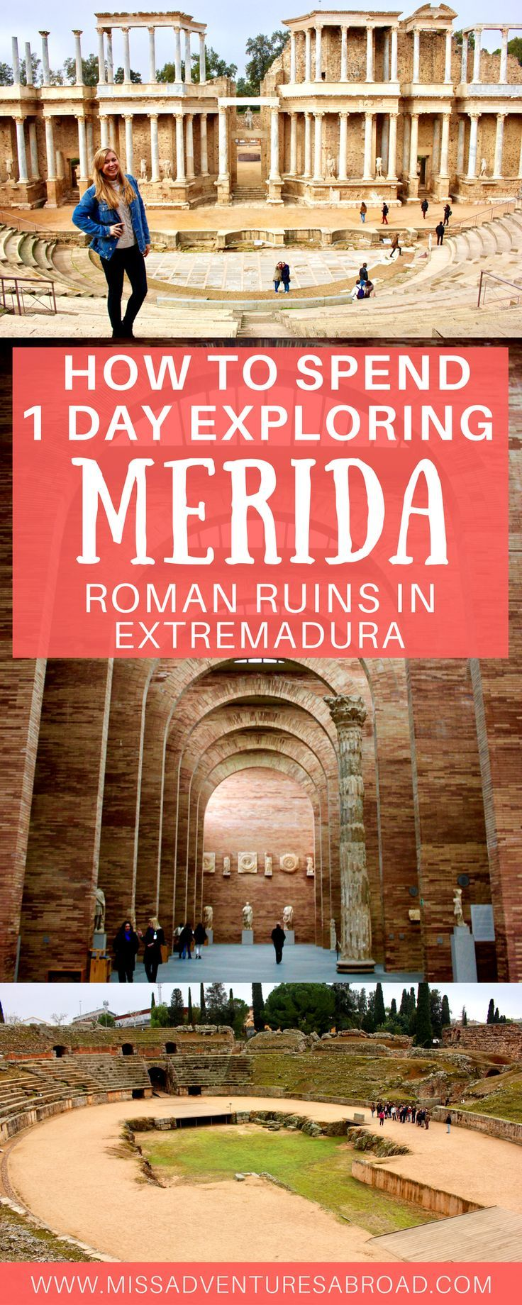 How to Spend 1 Day in Mérida: Exploring Extremadura's Roman Ruins · Plan a perfect day trip to the best Roman ruins in Spain. Mérida, Extremadura is known for its incredible ancient Roman theater, amphitheater, aqueduct, and other ruins. Discover all there is to see and do in this historic Spanish town.
