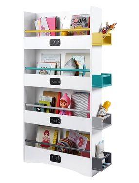 Una estantería muy práctica para guardar un montón de libros y objetos decorativos.   DIMENSIONES:  altura 109 cm, ancho 55 cm y profundidad 15 cm.
