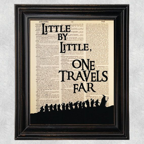 Little By Little One Travels Far Quote Dictionary by Improvisatori
