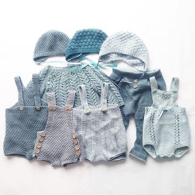 Grønntoner #instaknit#knitstagram#knittersofinstagram#knitting#knitting_inspiration#babystrikk#babyknits#snoningstrøje#perleseleshorts#baggyvårbukse#ministrikk#kulekyse#sukkertopplue