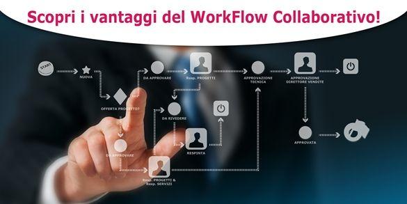 L'utente collaborativo ora ha a disposizione un nuovo strumento: il Workflow Collaborativo. L'obiettivo è di automatizzare i processi di business e interagire con altri processi permettendo all'utente di lavorare in modo smart e più evoluto. Scopri come il Workfflow Collaborativo può portare innovazione nei processi della tua azienda