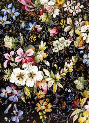 William Kilburn - Flowered Textile Design. England, late 18th century.