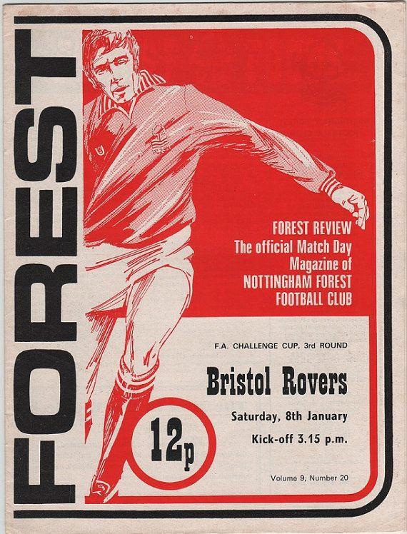 Vintage Football Programme - Nottingham Forest v Bristol Rovers, FA Cup 3rd round, 1976/77 season, by DakotabooVintage, £3.99