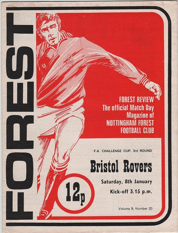 Vintage Football Programme  Nottingham Forest by DakotabooVintage, £3.99