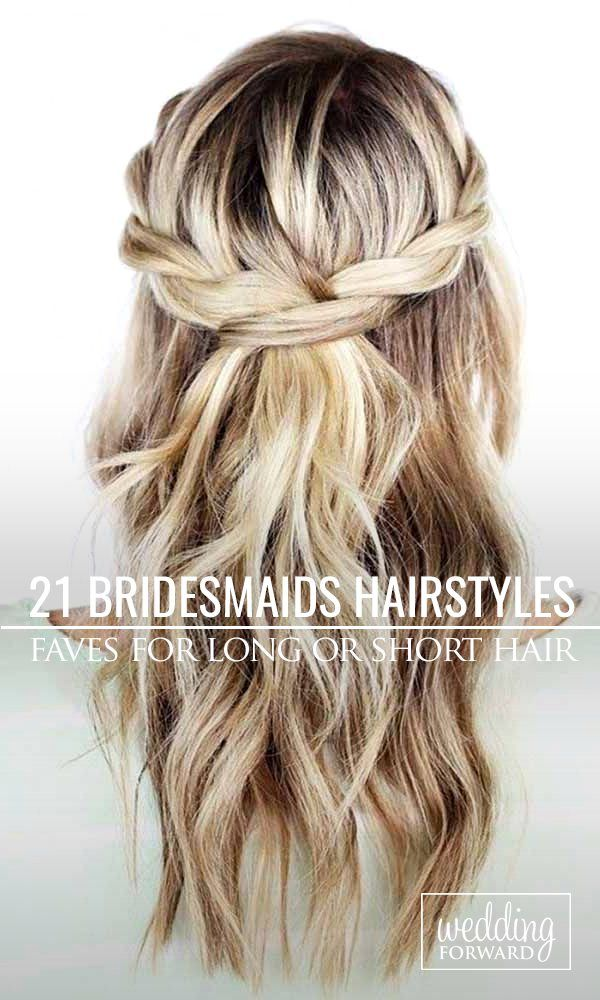 Bridesmaids Hairstyles For Short or Long Hair ❤ Looking for gorgeous hairstyles for the upcoming wedding? See more: http://www.weddingforward.com/hottest-bridesmaids-hairstyles-ideas/