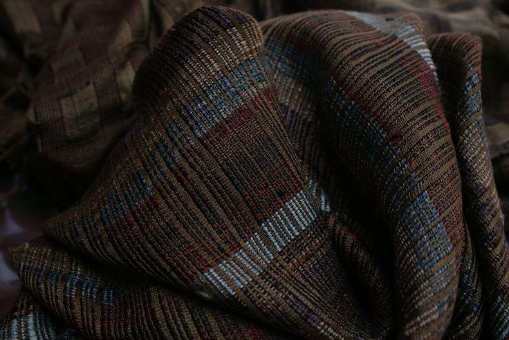 precious silk scarf handmade with natural colors  Vientiane Laos