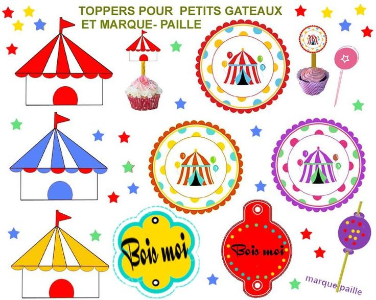anniversaire theme cirque a imprimer