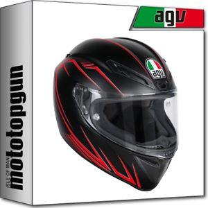 a agv casco moto integrale veloce s multi projoatore matt negro rojo ms