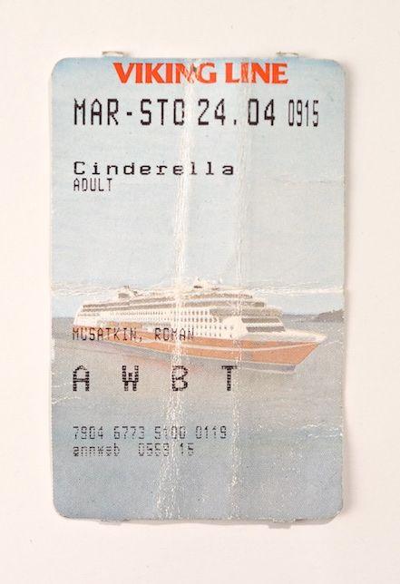 Viking line ticket issued on Åland Islands.