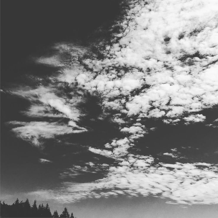Just a black and white sky... #sky #partlycloudy #clouds #blackandwhitephoto #blackandwhite #pnw #pnwisbeautiful #upperleftusa #usa
