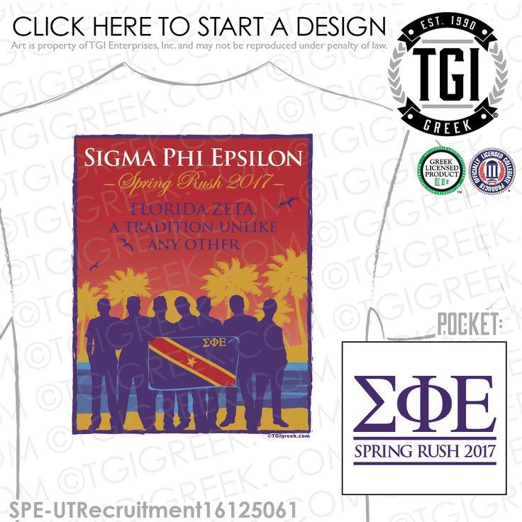 Sigma Phi Epsilon | SigEp | ΣΦΕ | Florida Zeta | Spring Rush | Rush | Fraternity Rush Shirt | Brotherhood | TGI Greek | Greek Apparel | Custom Apparel | Fraternity Tee Shirts | Fraternity T-shirts