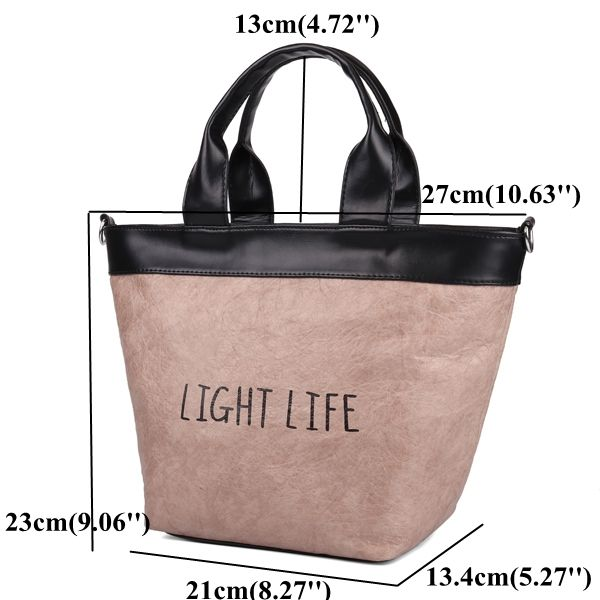 High-quality Retro Kraft Paper PU Leather Bucket Handbag Shoulder Bag Crossbody Bag For Women - NewChic Mobile