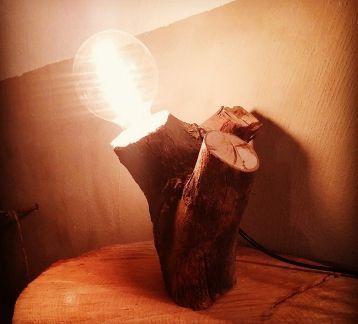 ahşap gece lambası