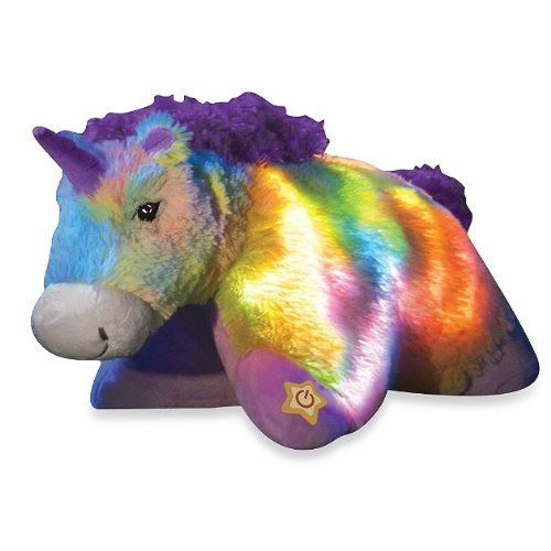Bright Light Animal Pillow Pets : Pillow Pets Glow Pets Rainbow Unicorn 16