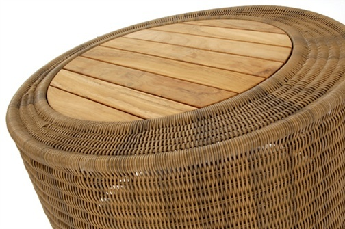 Woven rattan coffee table with solid teak insert £299 for 2012: Coffee Tables, Gardens Coff, Gardens Furniture, Contemporary Gardens, Memorial Tables, Beaches Houses, Gardens Tables, Rattan Coffee, Contemporary Rattan