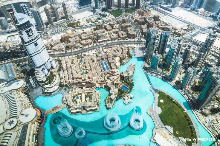 World from above. View from Burj Khalifa, the tallest building in the world. ANIA W PODRÓŻY travel blog and photography