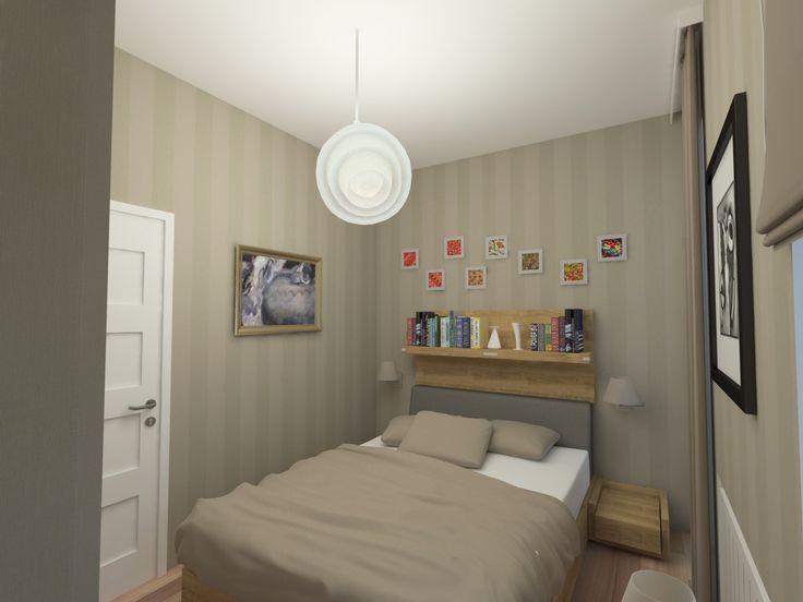 Látványterv hálószoba / Architectural visualization bedroom