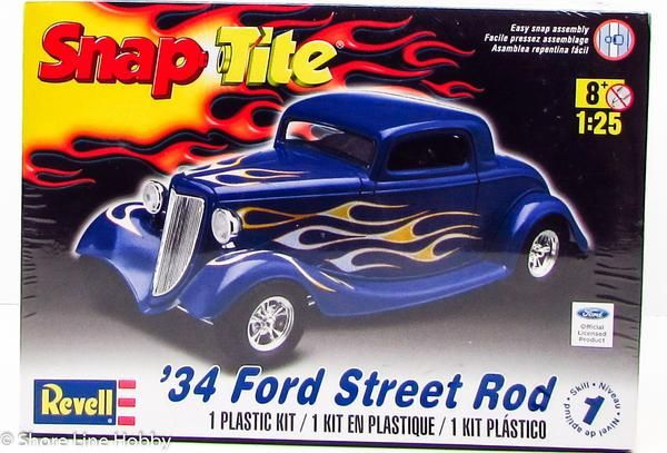 This plastic model kit of the 1934 Ford Street Rodis made