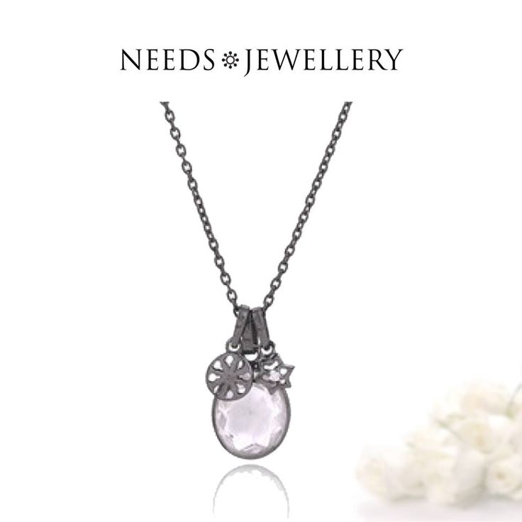 Get 20% on the LADY necklace with 3 fine pendants and oval handmade crystal.  #gifts #necklace #silver #gold #Sterling #handmade #jewelry #NEEDSJEWELLERY