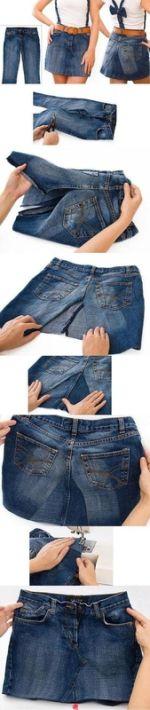 jupe jean recyclage