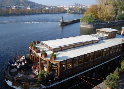 Many Riverside Boats Have Cafes & even Hotel Rooms!