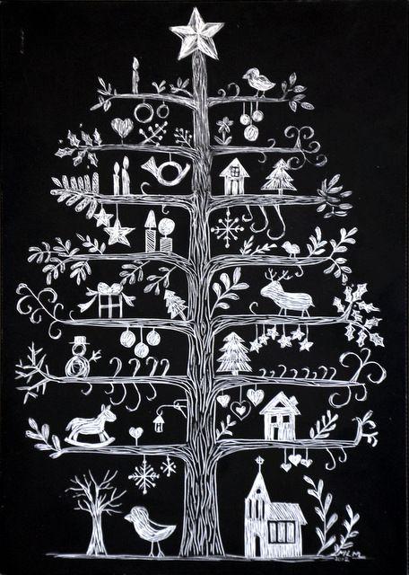 Marquette LaRee Blog: Scandinavian Christmas Tree Scratchboard