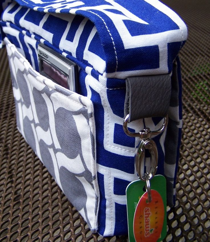 COUPON HOLDER SEWING PATTERN - this idea could be useful for a laptop bag