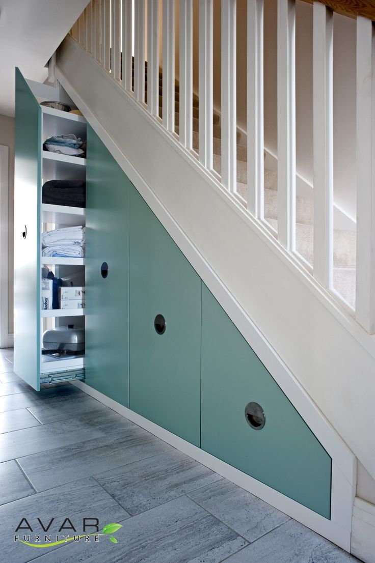 shoe storage under the stairs from Avar Furniture