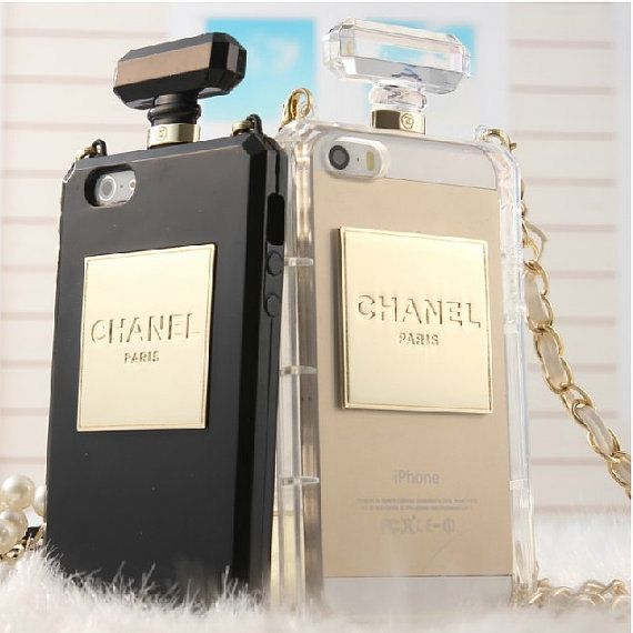 Perfume bottles Chain iphone 4 4s 5 5s case samsung galaxy s3 s4 s5 note 2 note 3 case cover black white on Etsy, $15.99
