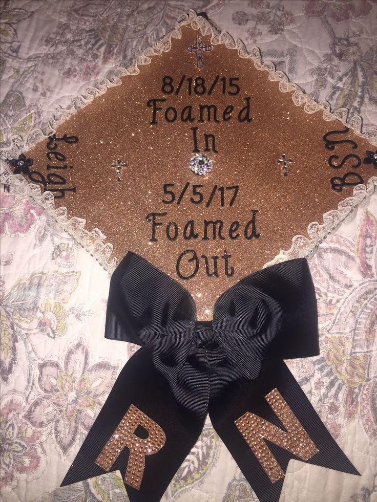 Nursing Graduation Cap! BSN, RN, funny, rose gold, 2017 nursing graduation cap