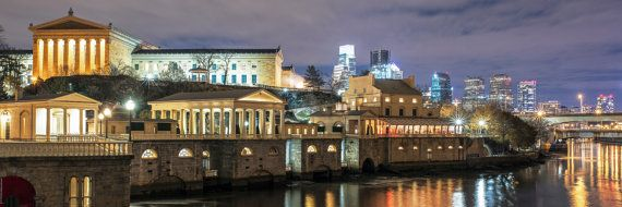 Philadelphia Museum of Art with Waterworks 20x60