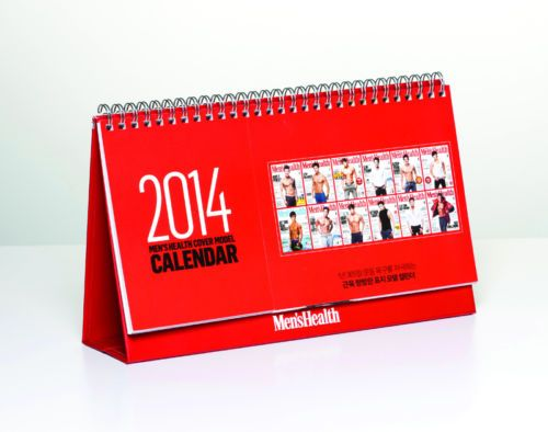 [2014 K-POP Season Greeting] Men's Health Muscular Idols Memorable (Calendar)