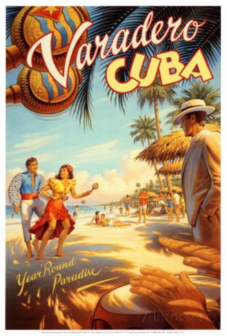 Varadero, Cuba Art at AllPosters.com  Cuban travel posters:  bonus room