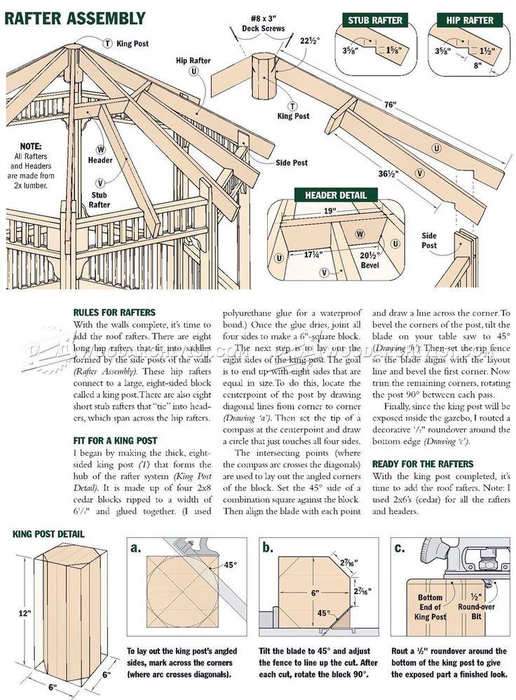 25 b sta gazebo plans id erna p pinterest pergola for Build your own gazebo free plans