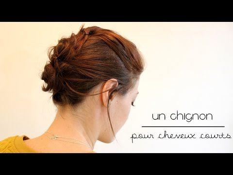 Tuto coiffure pour cheveux courts : un chignon désordonné - RED BEAUTY   Blog beauté, mode, lifestyle